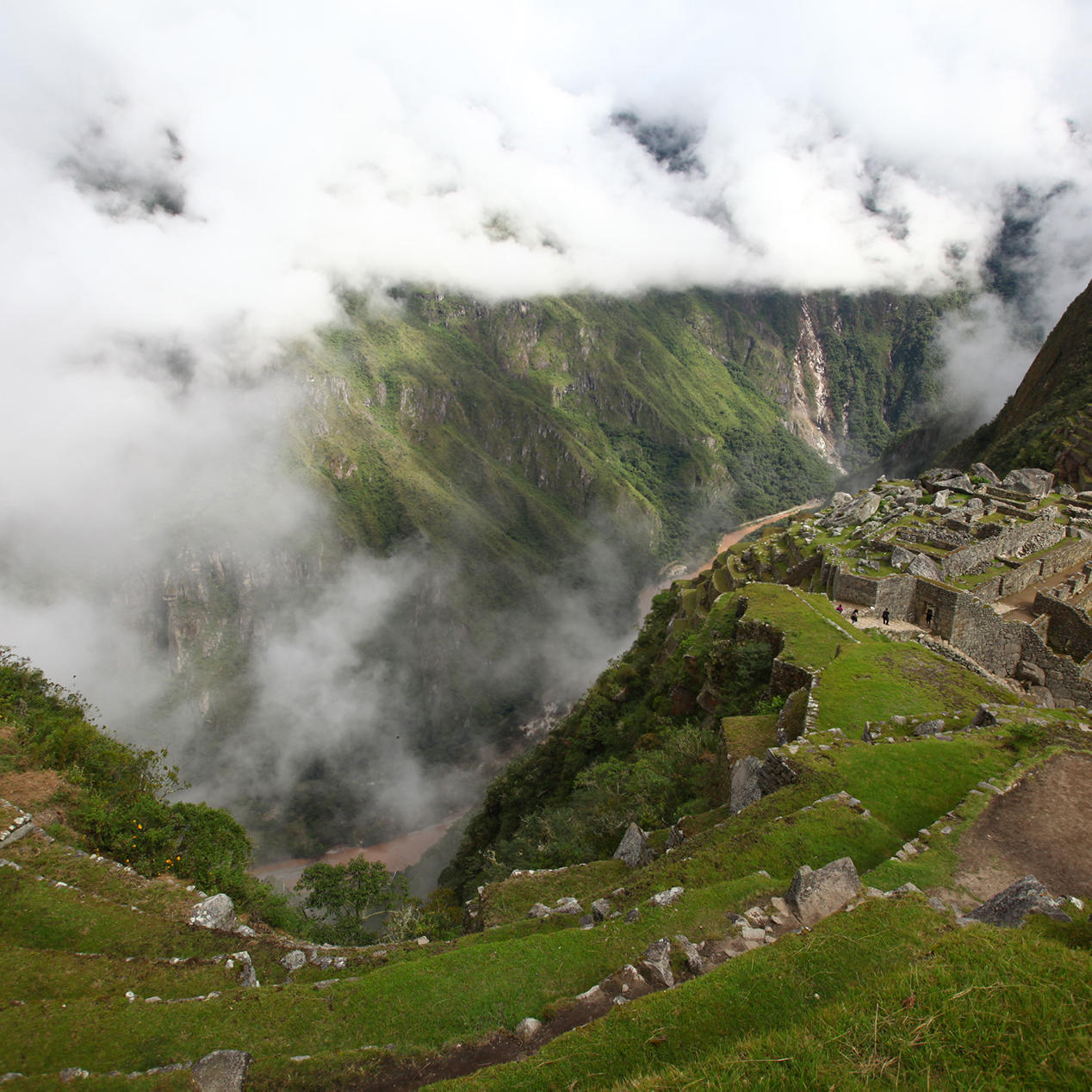View of the The mysterious inca wall near Hotel Sumaq