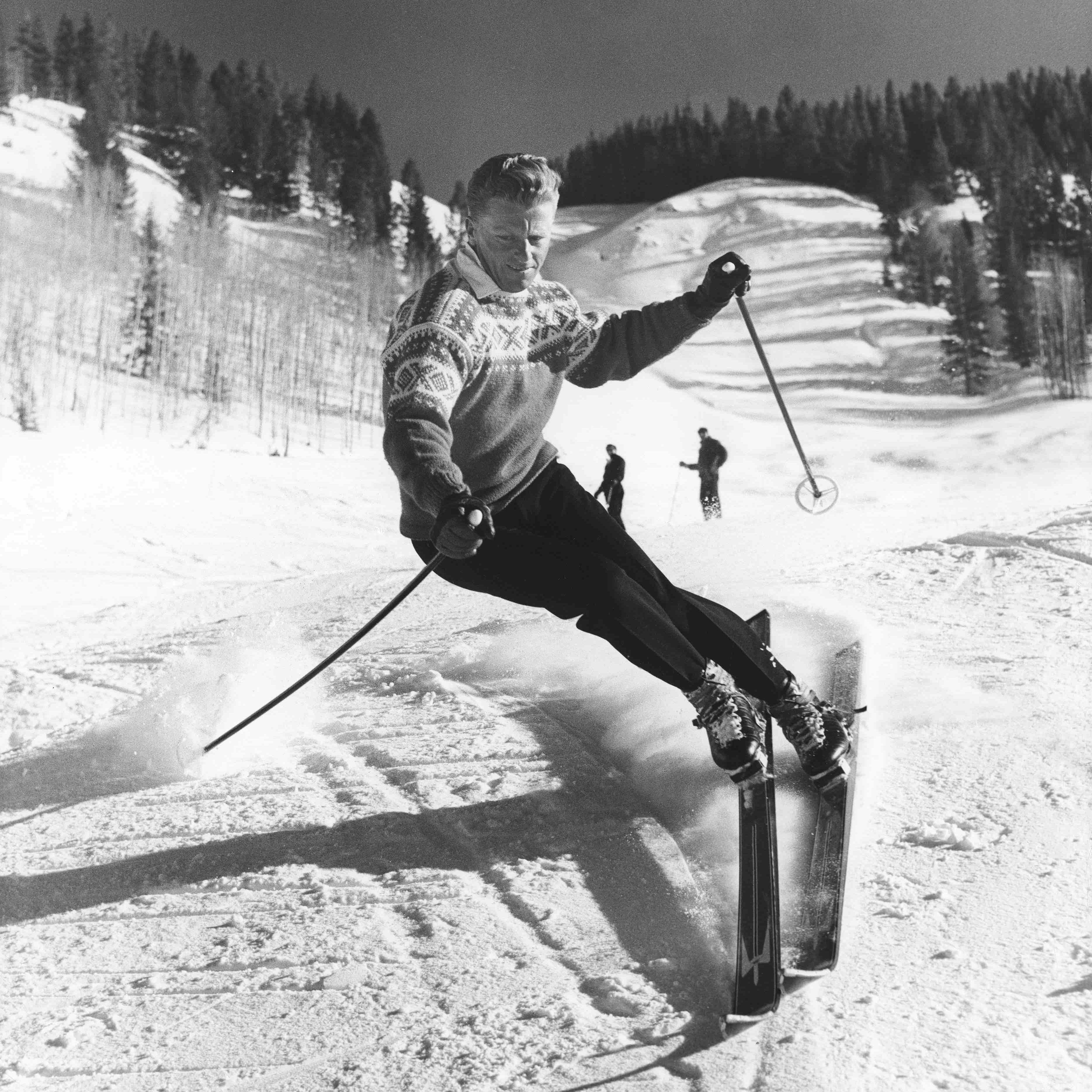 a man skiing