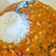 Etouffee dish served at St. James Hotel