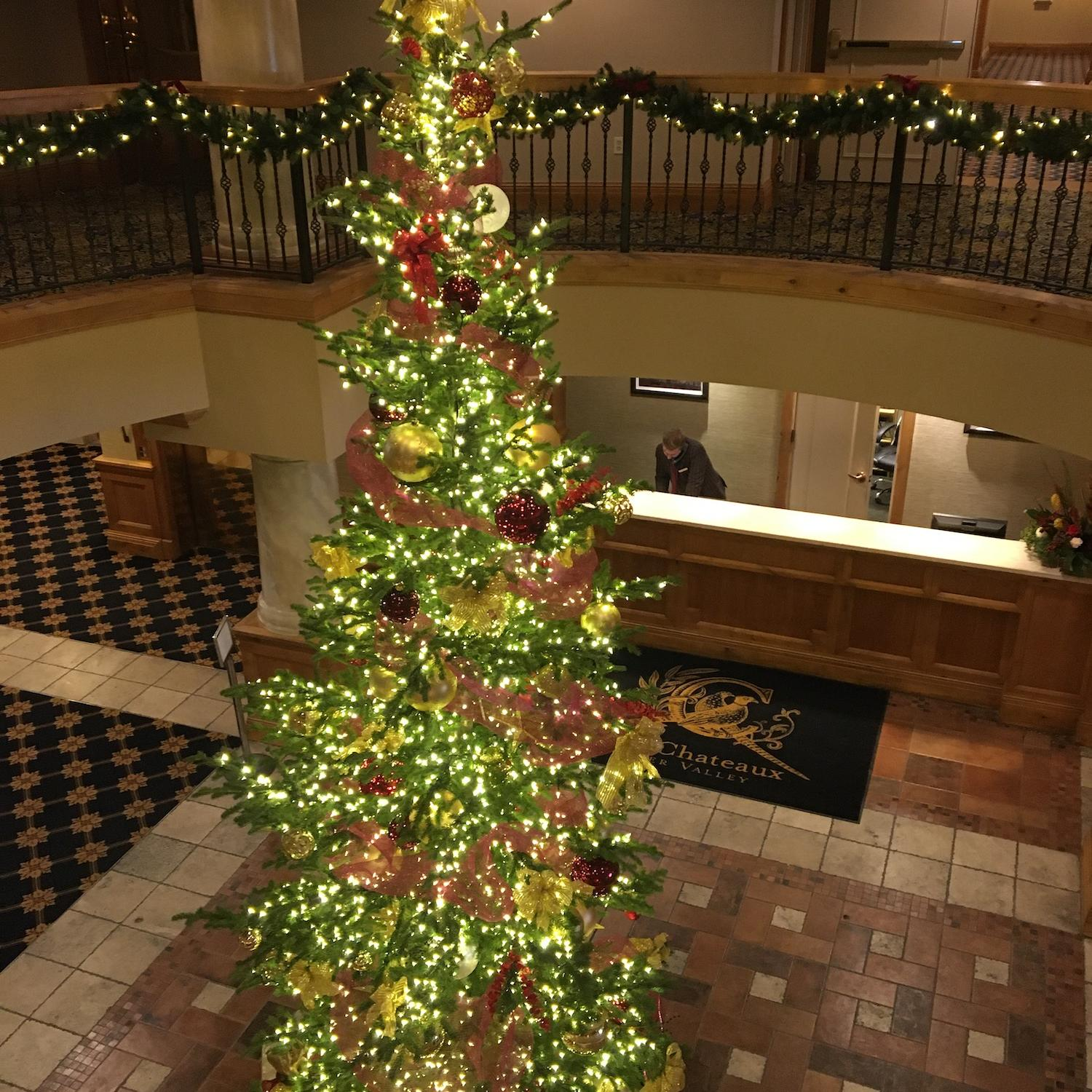 The Chateaux Christmas tree