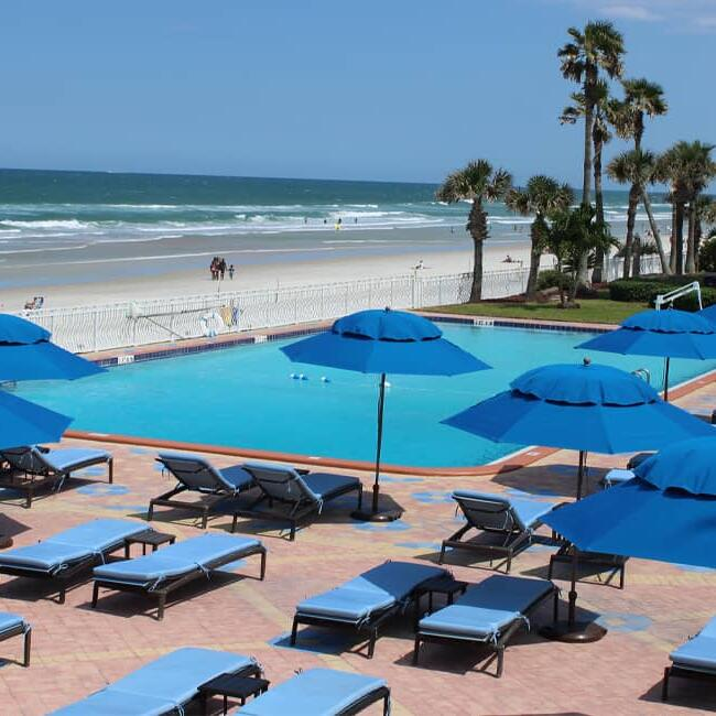 Beach front heated pool, Daytona Beach