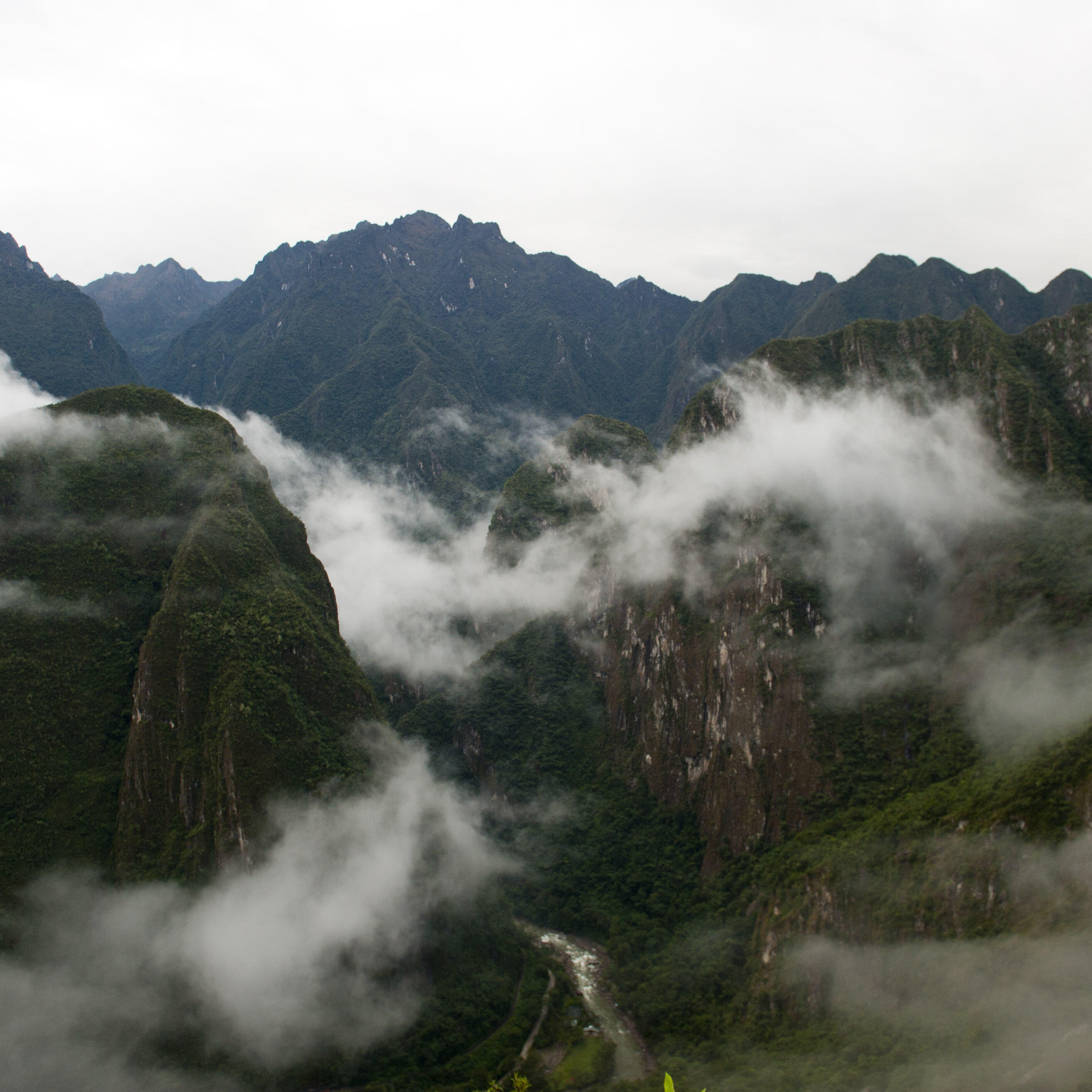 Dramatic scenes like this one are common on all the hikes to Macchu Pichu.