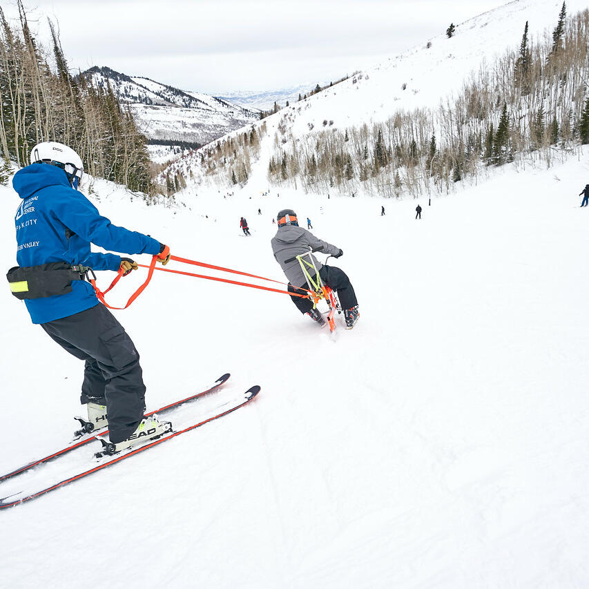 The National Ability Center adaptive downhill skiing