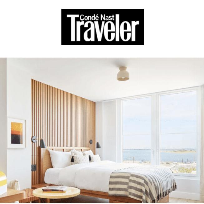 Image of the room in The Rockaway Hotel in Condé Nast Traveler