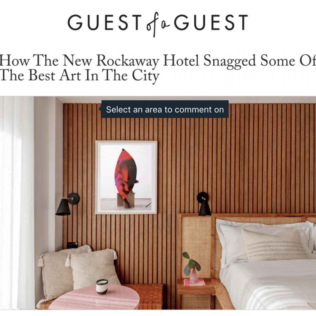 Article about The Rockaway Hotel in Guest of a Guest