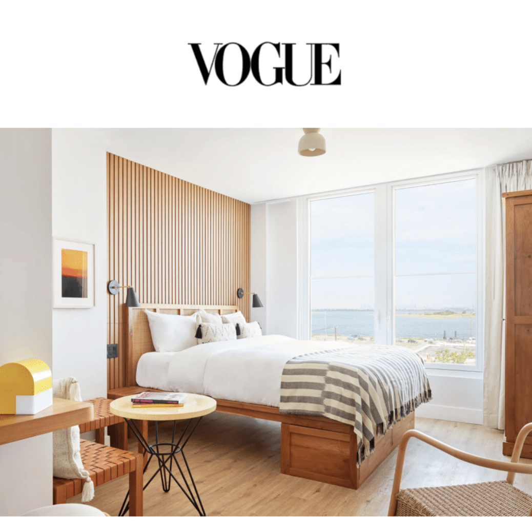 Image of the room in The Rockaway Hotel in VOGUE