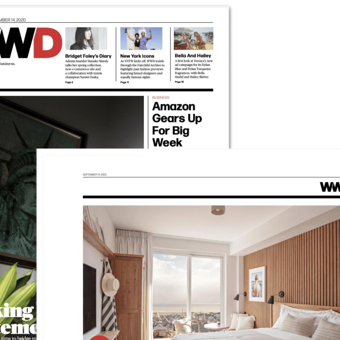 Article about The Rockaway Hotel in WWD by Kristen Tauer