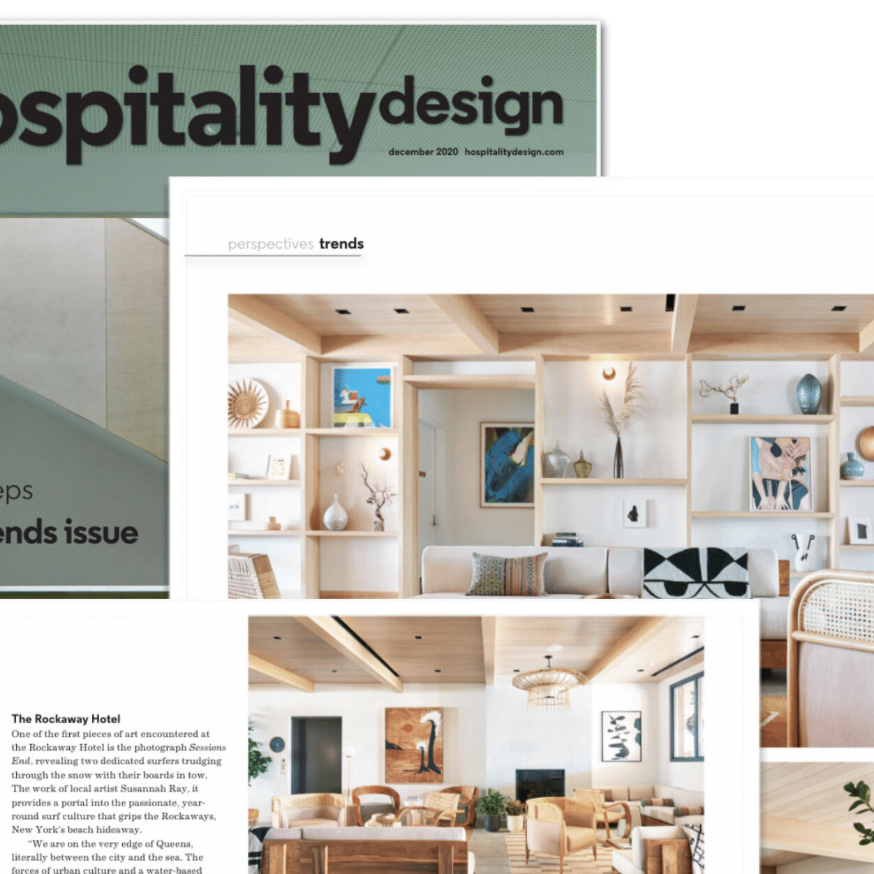 Article about The Rockaway Hotel in  Hospitality Design