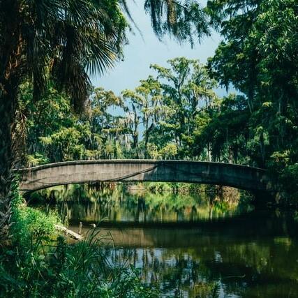 A bridge over a river near the hotel
