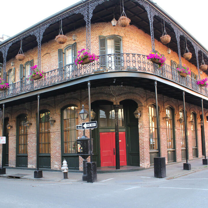 A building at the French Quarter near the hotel