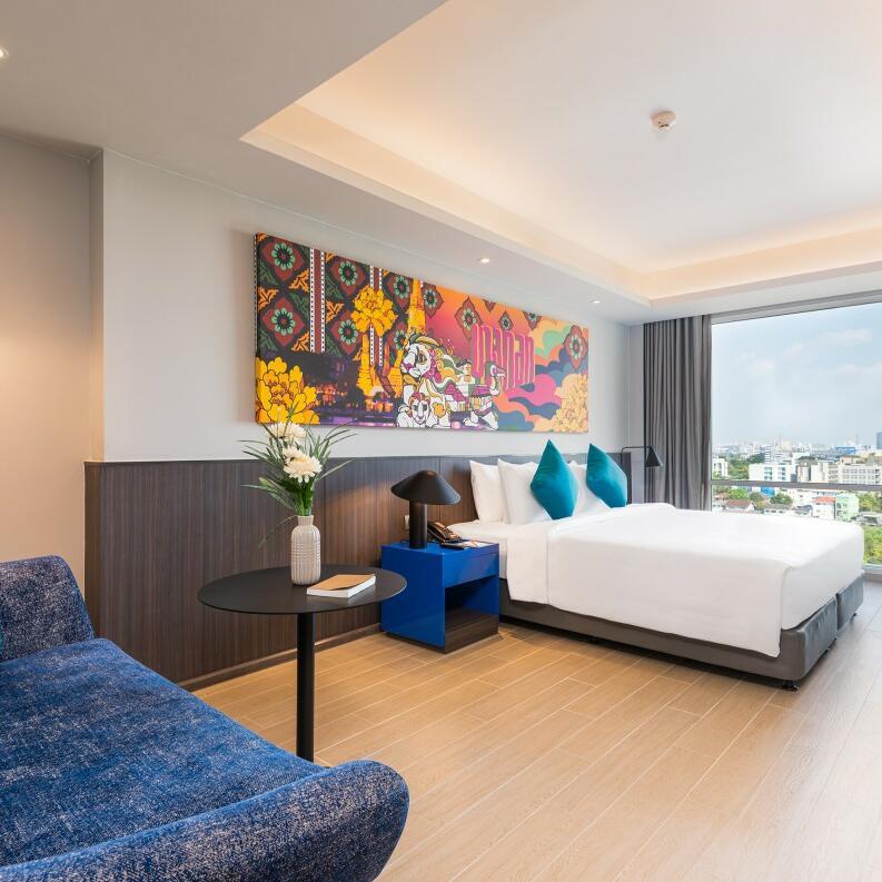 View of the bedroom at Maitria Residence Rama 9 Bangkok