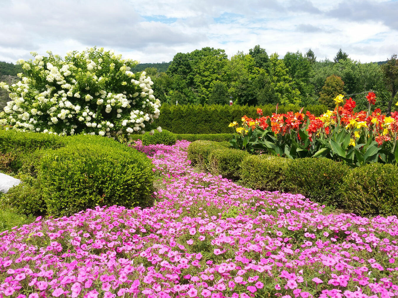 Flower gardens on Honoros Haven property