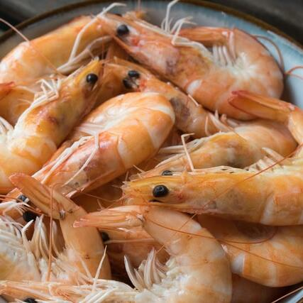 Shrimps served at a shop near the hotel