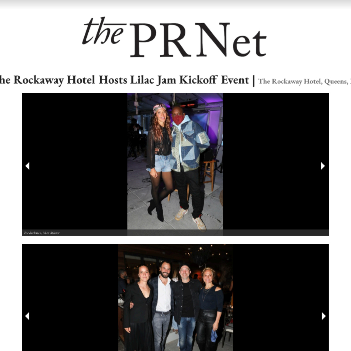Article from The PRNet at The Rockaway Hotel