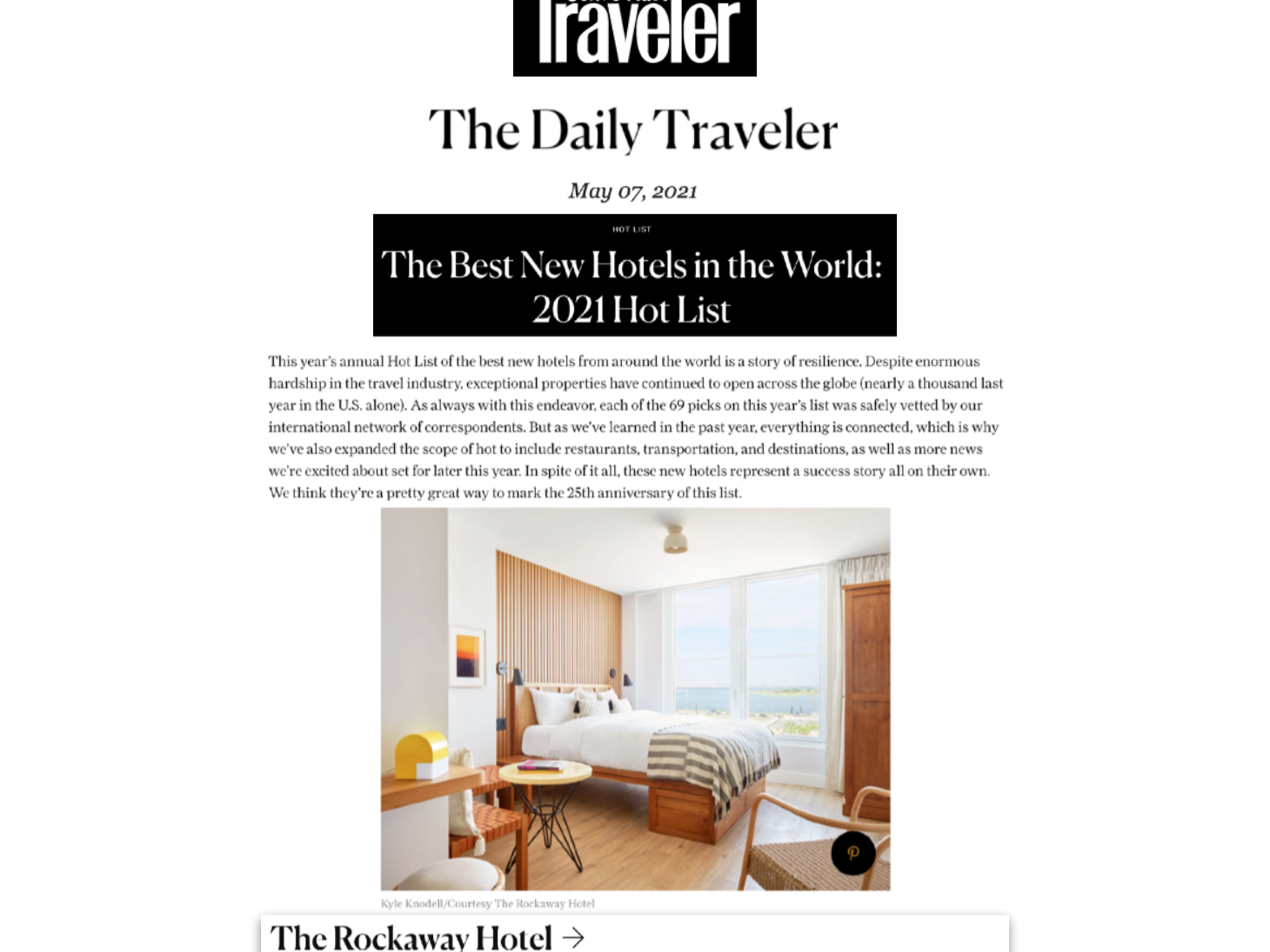 Condé Nast Traveler   The Best New Hotels in the World 10 Hot ...