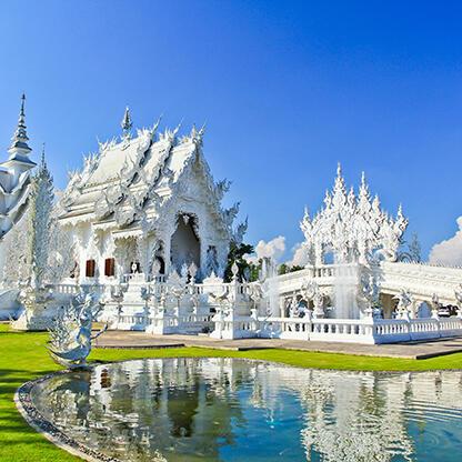 Wat Rong Khun - Cheap hotels in Chiang Rai   HOP INN Chiang Rai