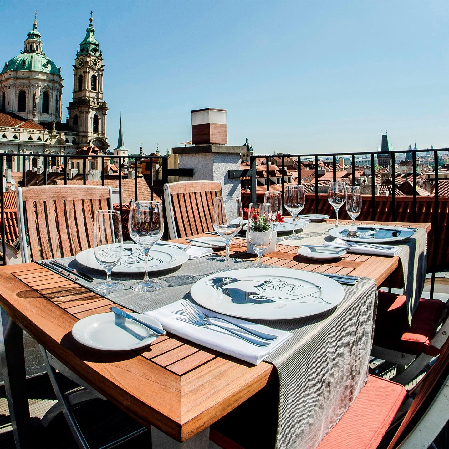 Rooftop terrace is open