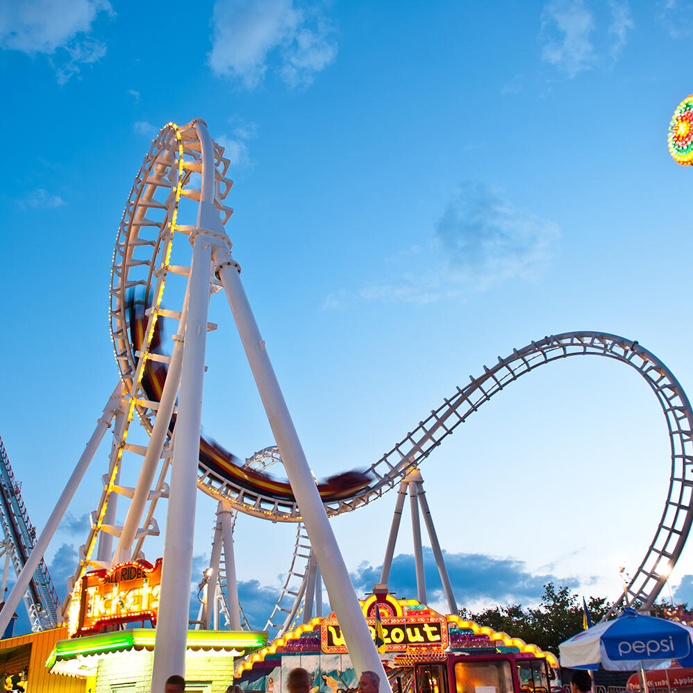 roller coaster Near Our Ocean City, Maryland Beachfront Hotel