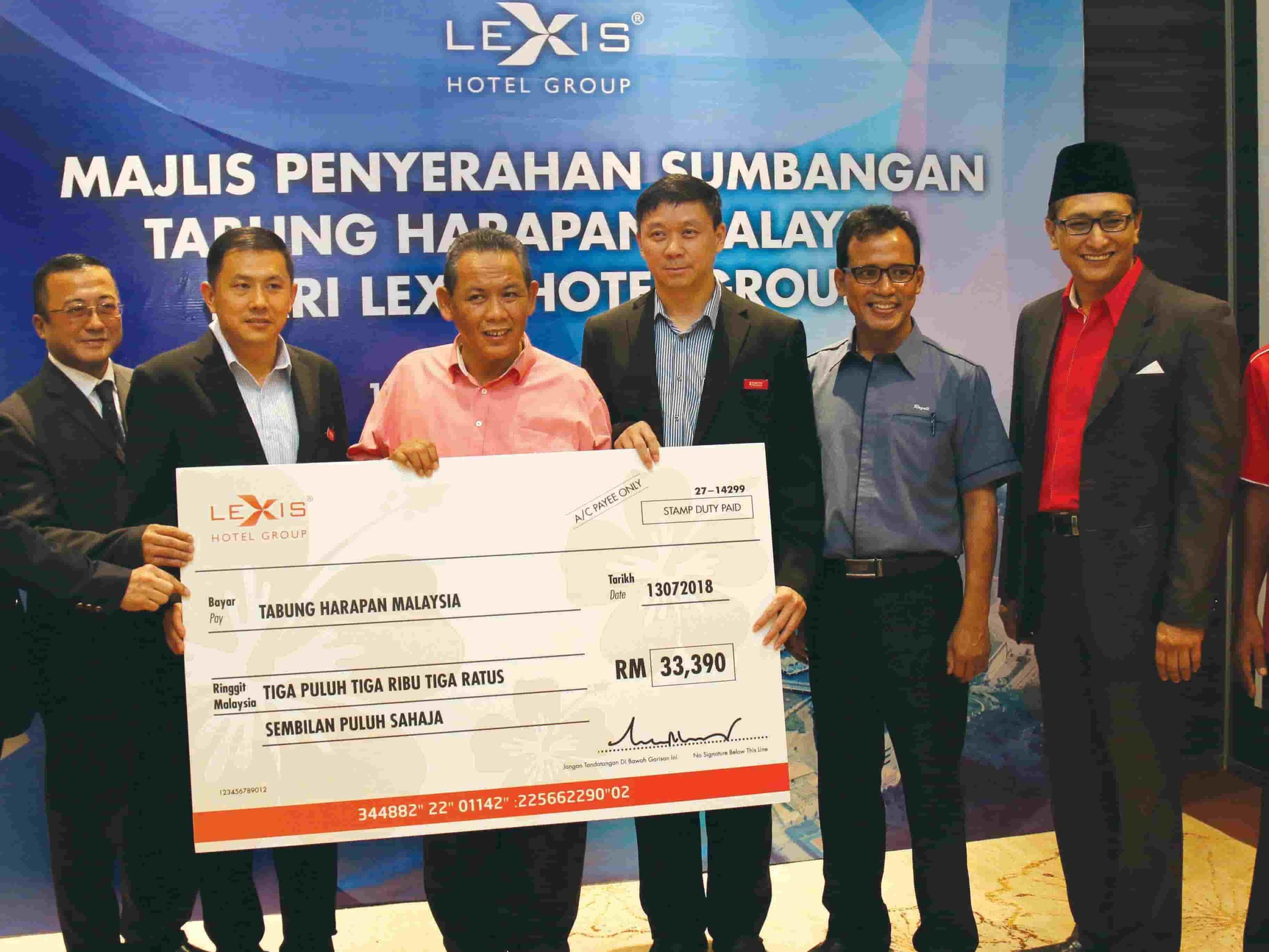 News 2018 - Donation to Tabung Harapan | Lexis® Hotel Group