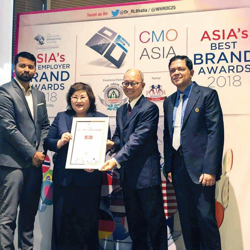 News 2018 - Asia's Best Employer Brand Awards 2018 | Lexis® Hotel Group