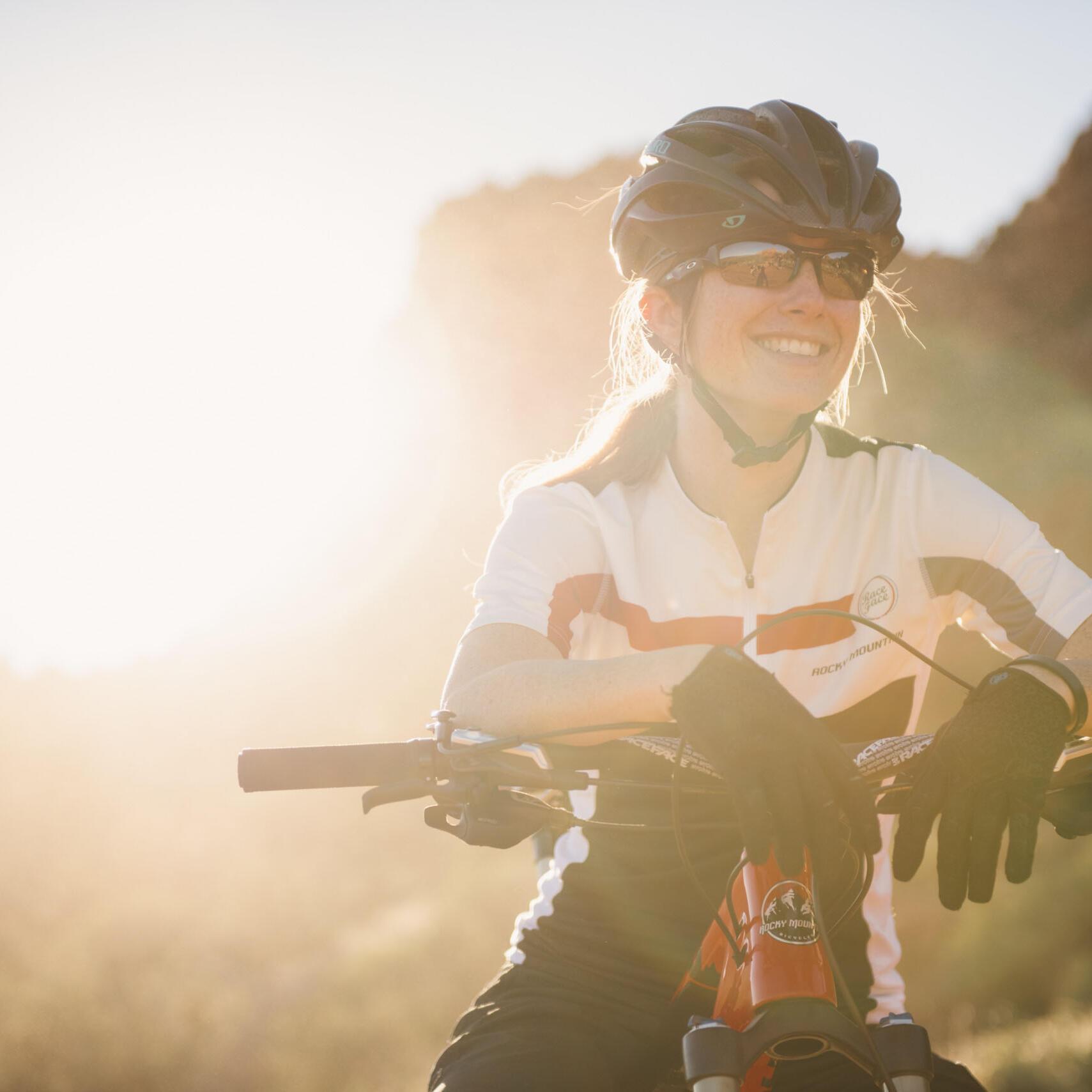 female mtn biker