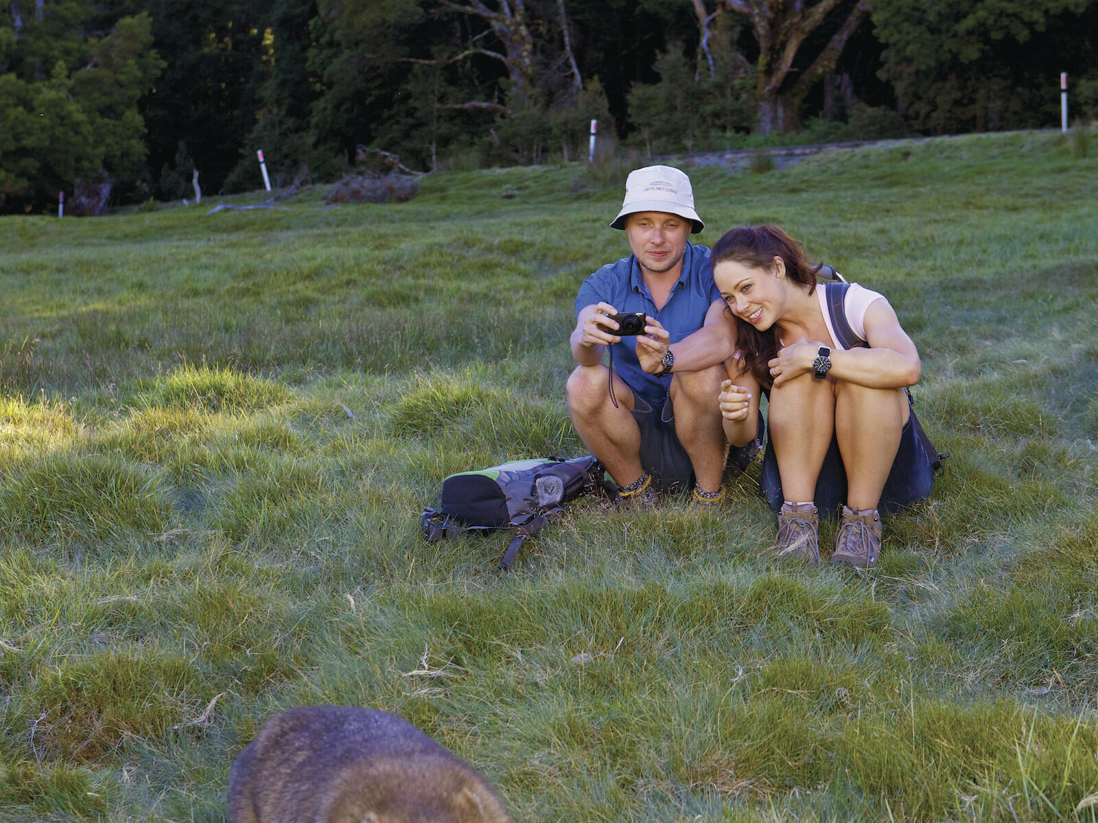 Couple at the national park near  Cradle Mountain Hotel