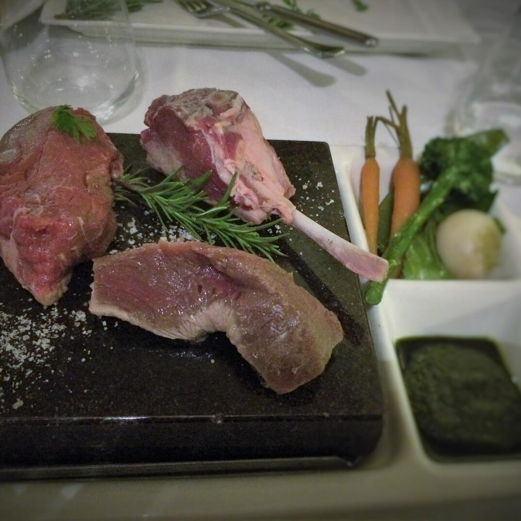 Meat dish preparation at  Cradle Mountain Hotel