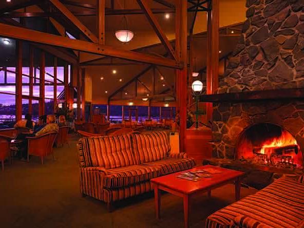 Interior view of Hazards Bar & Lounge at Freycinet Lodge