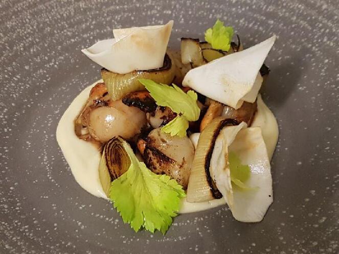 seared tasmanian scallops dish at Freycinet Lodge