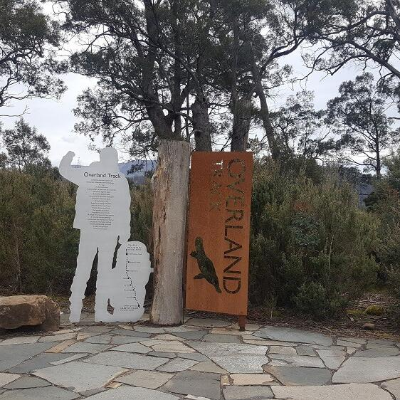 Entrance of the Overland Track near the Strahan Village