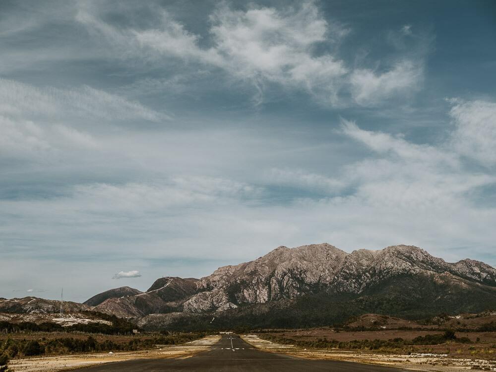Mountains in Tasmania's wild west coast near Strahan Village