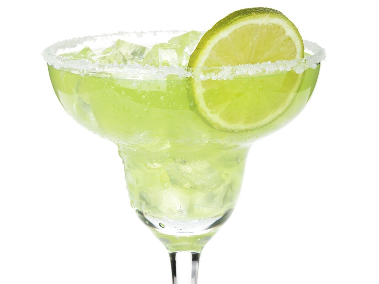 Glass of a Traditional Mexican Margarita at Strahan Village