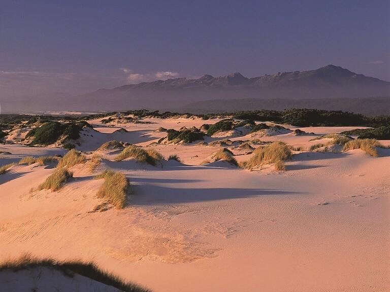 Sandy desert near the Strahan Village