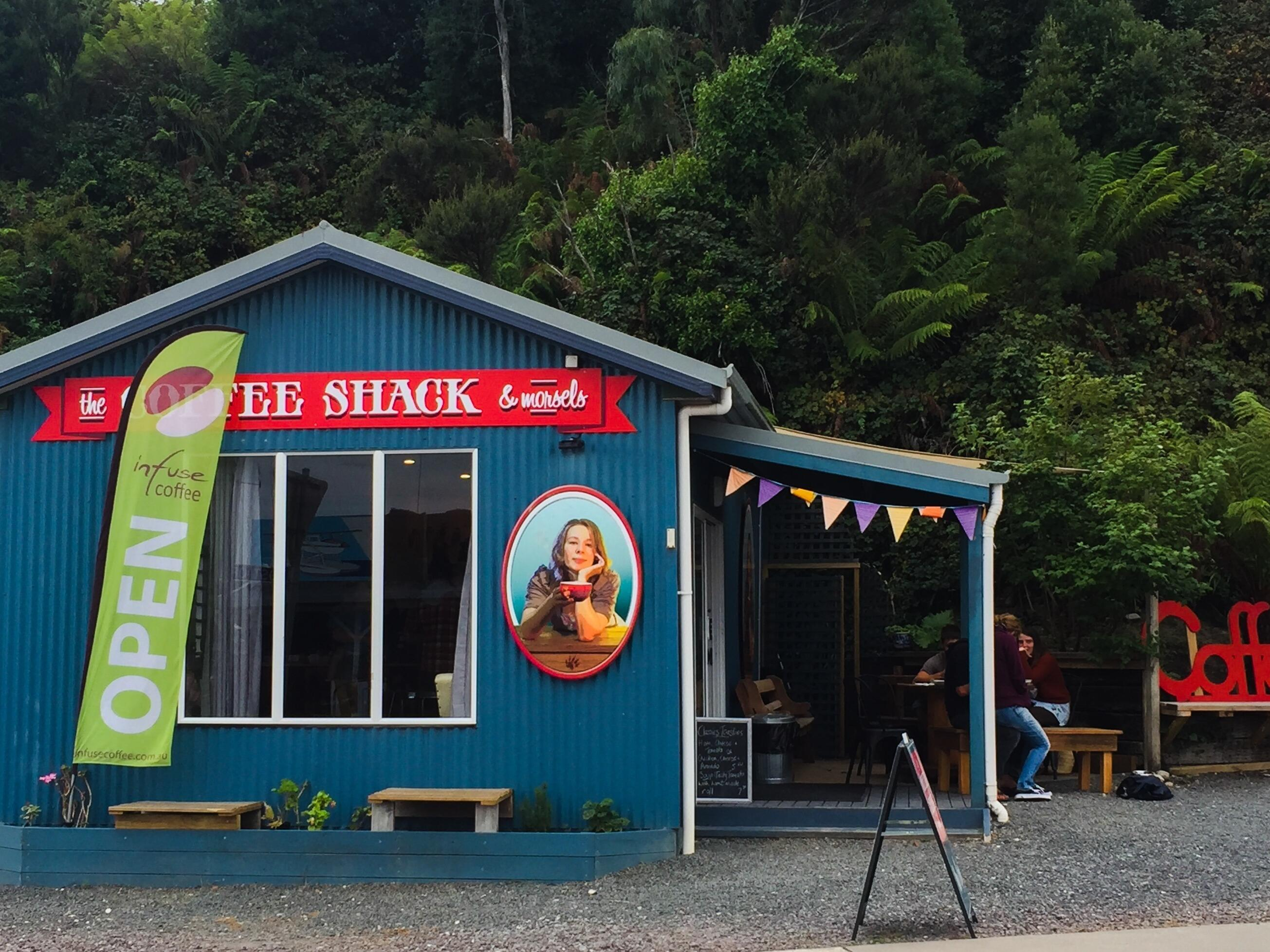 Coffee Shack and Morsels café near Strahan Village
