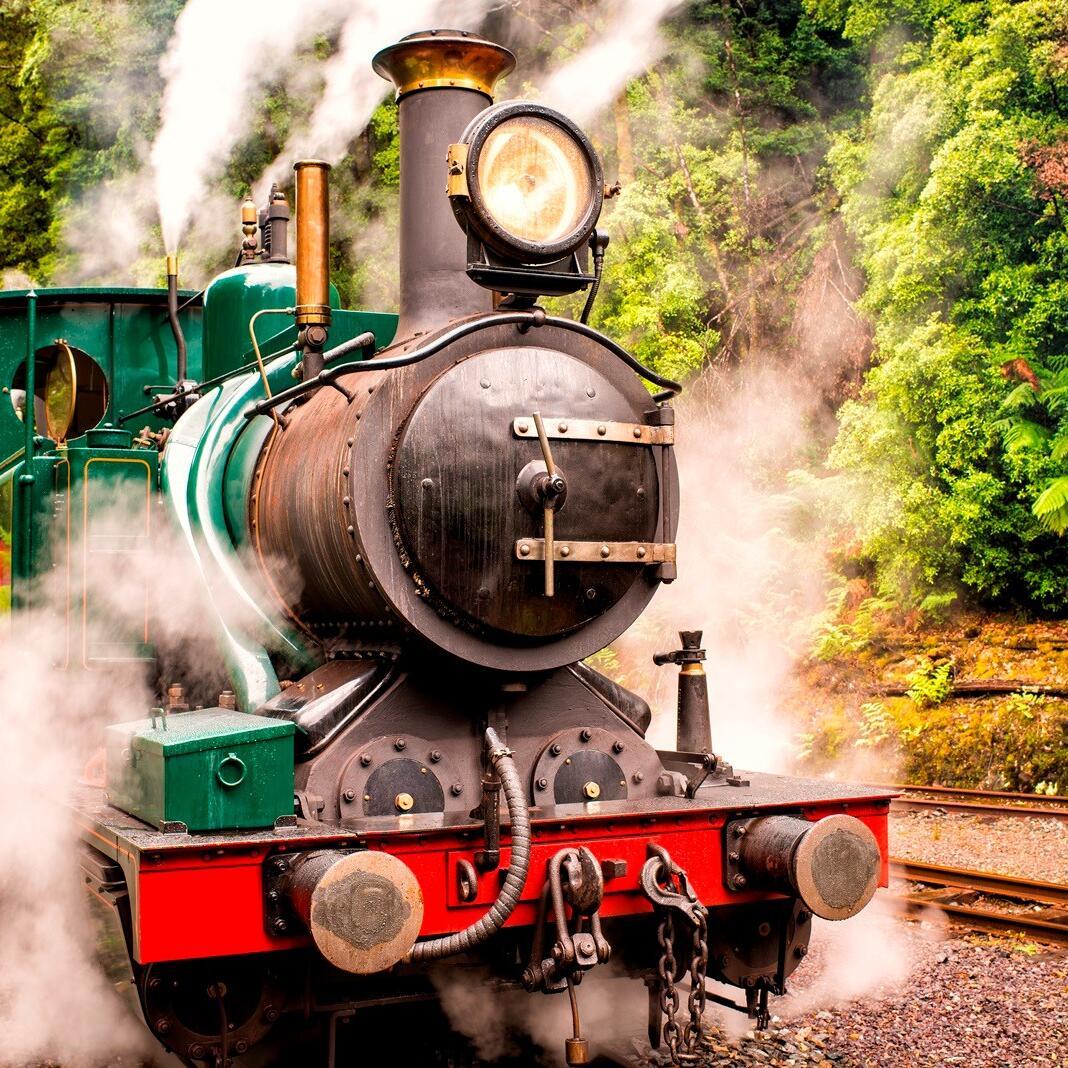 Train Engine at Wilderness Railway near Strahan Village
