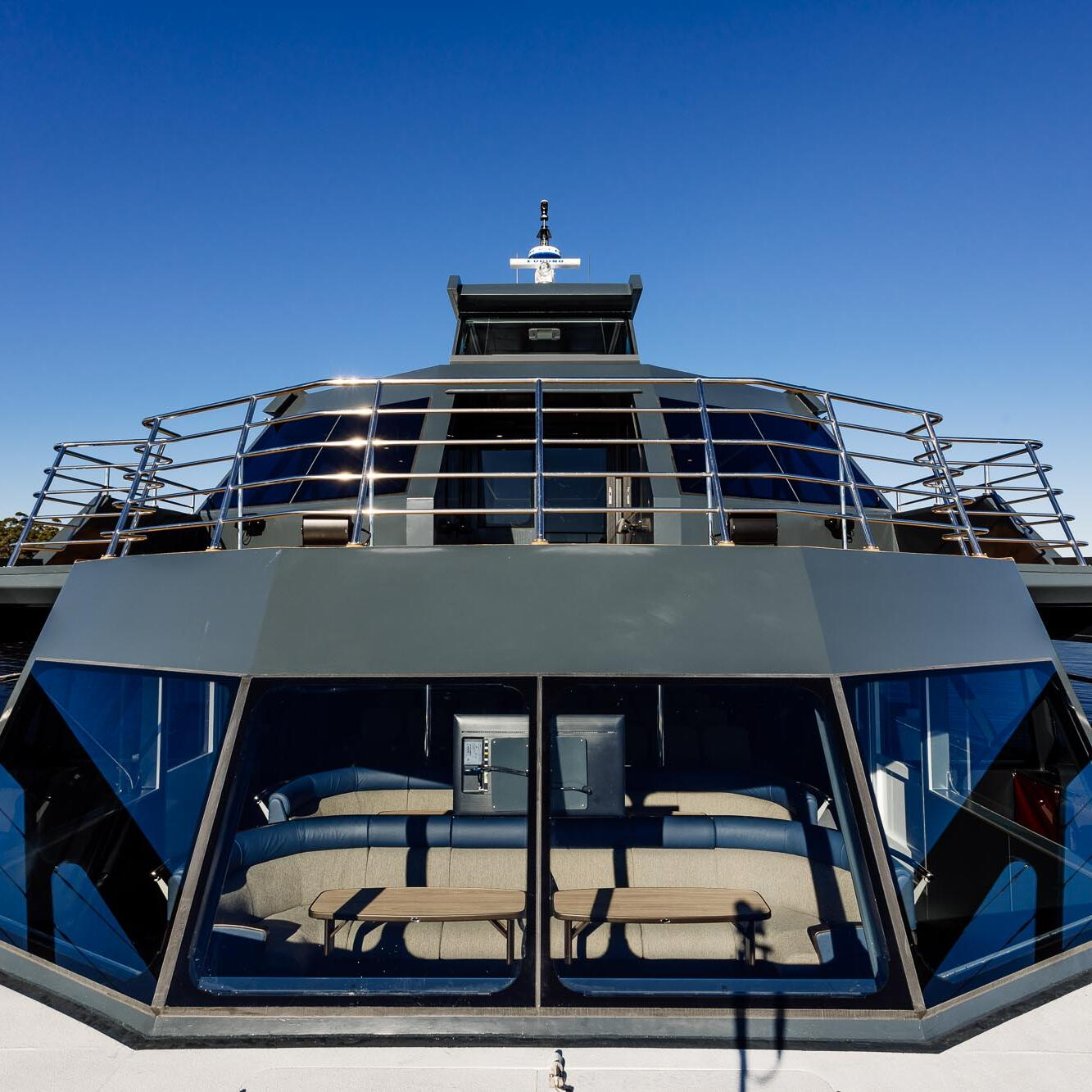 Front view of the Vessel at Gordon River Cruises
