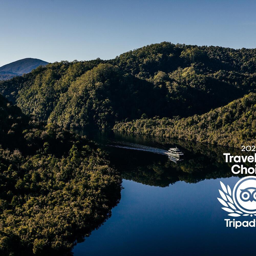 Travellers' Choice award logo by TripAdvisor For Gordon River Cruises