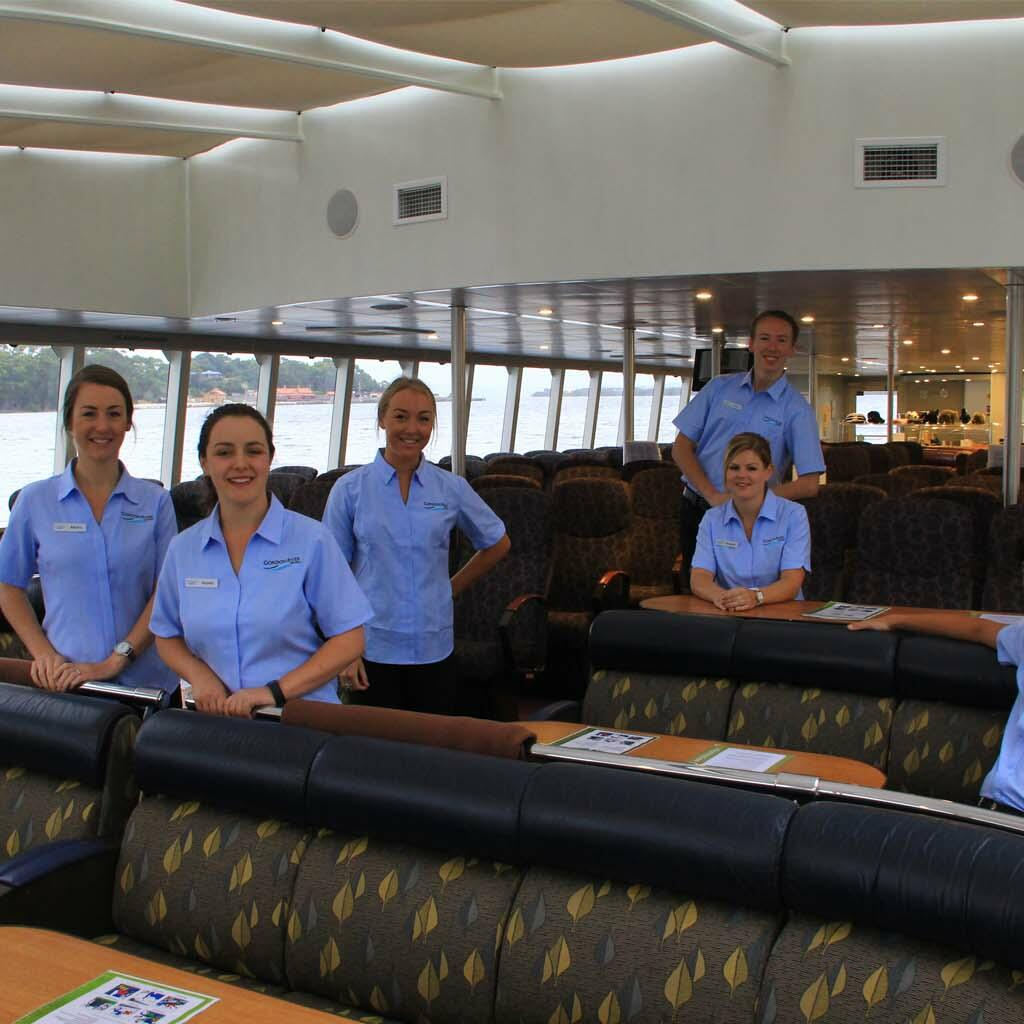 Staff at the Cruise ship at the Gordon River Cruises