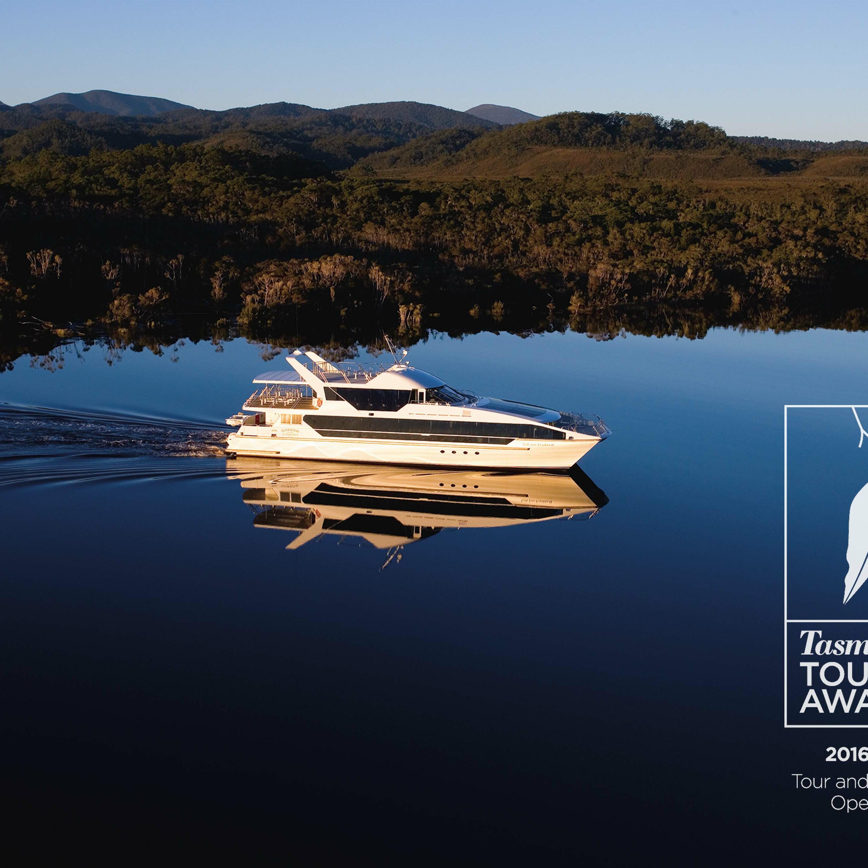 Banner of Tasmania Tourism award 2016 For Gordon River Cruises