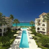 View of the Beach and the Pool at The Somerset On Grace Bay