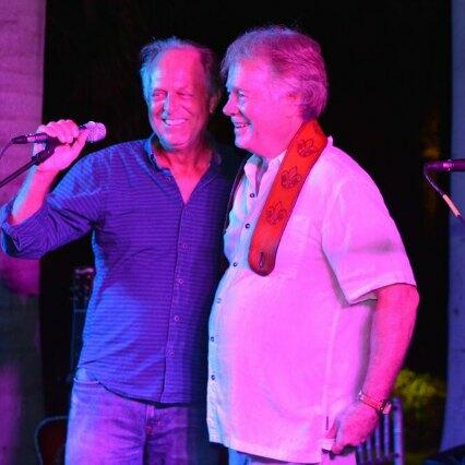 Two musicians at the Turks & Caicos Sundowner Music Festival