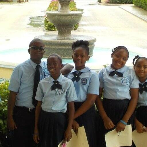 Group of School children at Somerset On Grace Bay