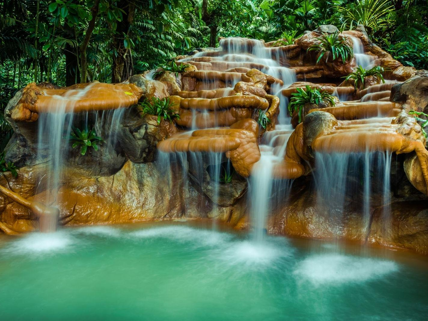 hot springs waterfalls