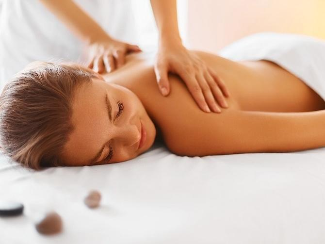 a woman getting a massage