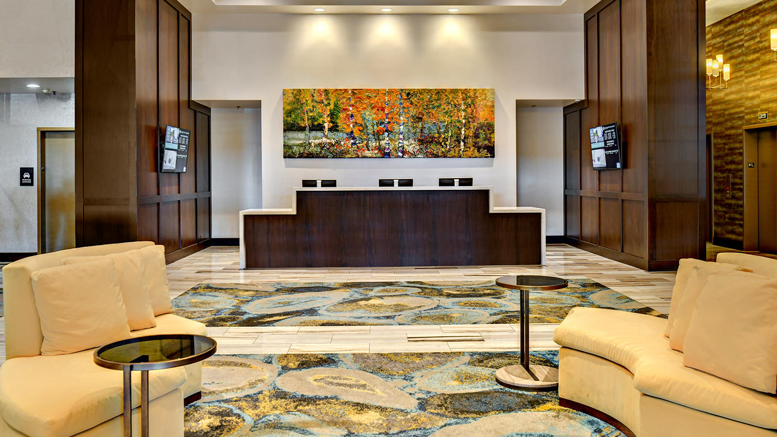 The new Grove Hotel front desk