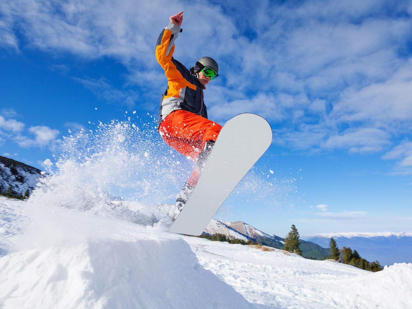 Bogus Basin Snowboarder