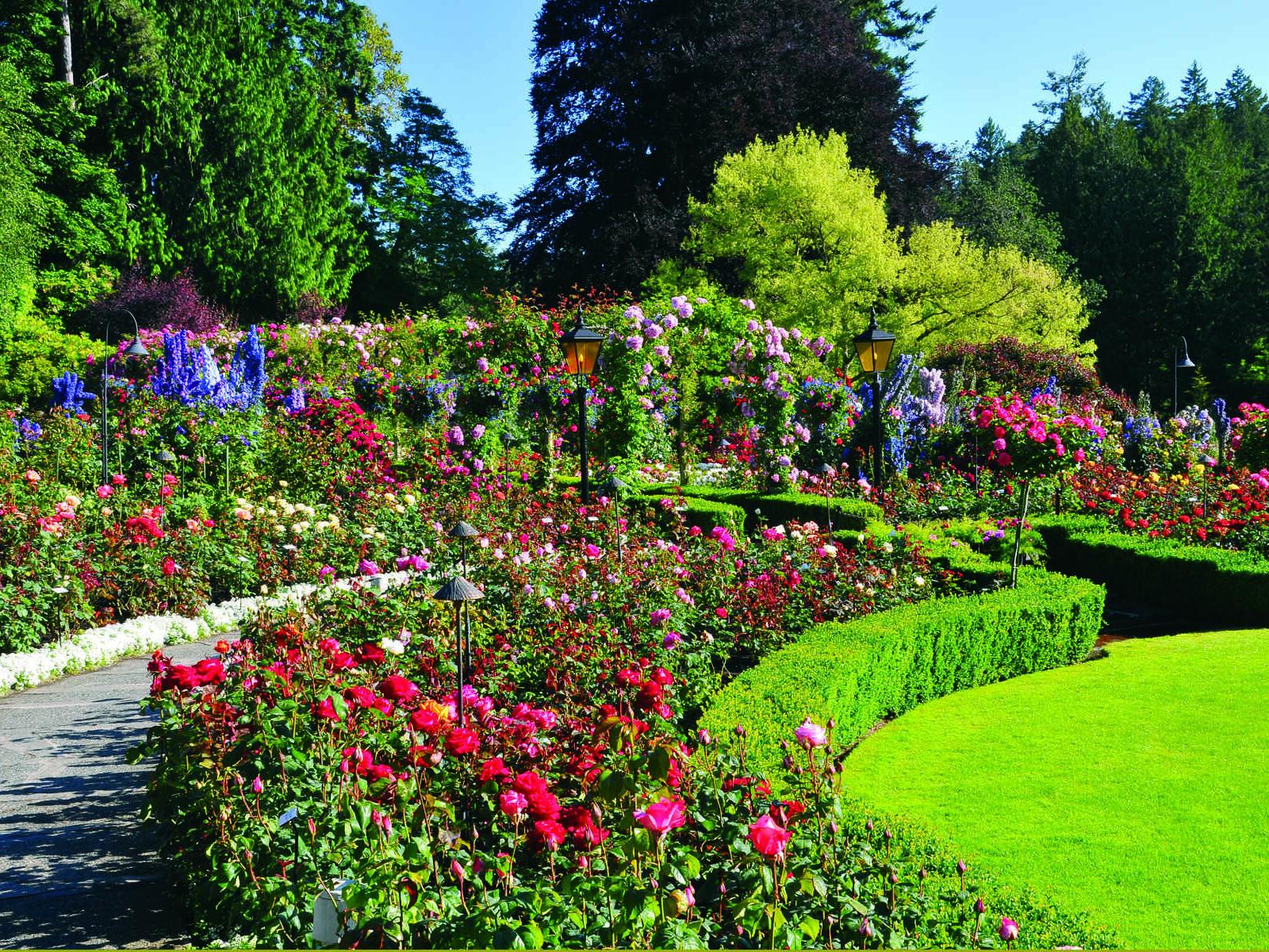 The Butchart Gardens.