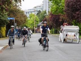 Bicyclists on Bike Tours Victoria.