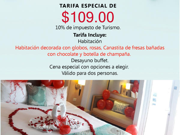 flyer for romantic package