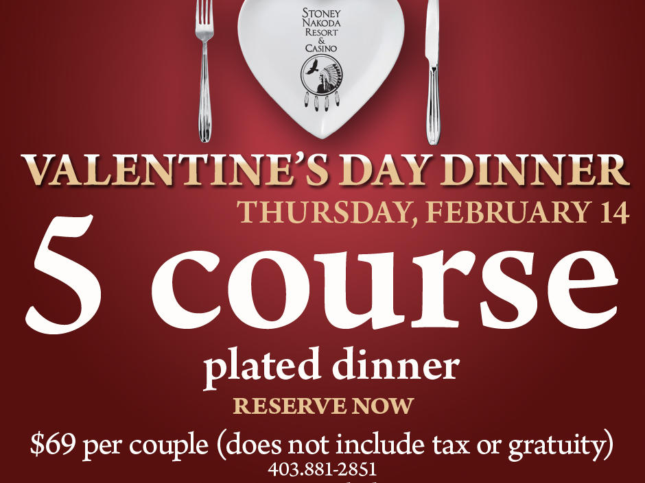 Valentines Day 5 Course Dinner